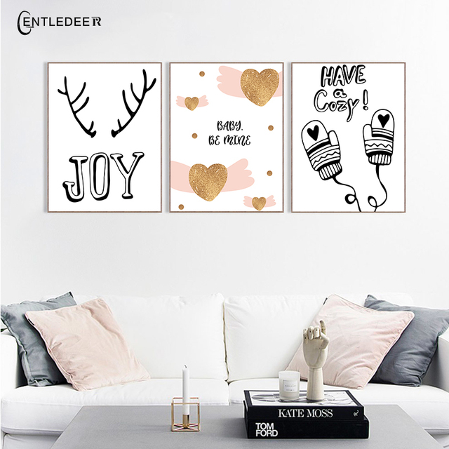 Modern Minimalism Christmas Picture Print Posters Canvas Paintings Wall  Picture Nordic Poster Baby Kids Room Home