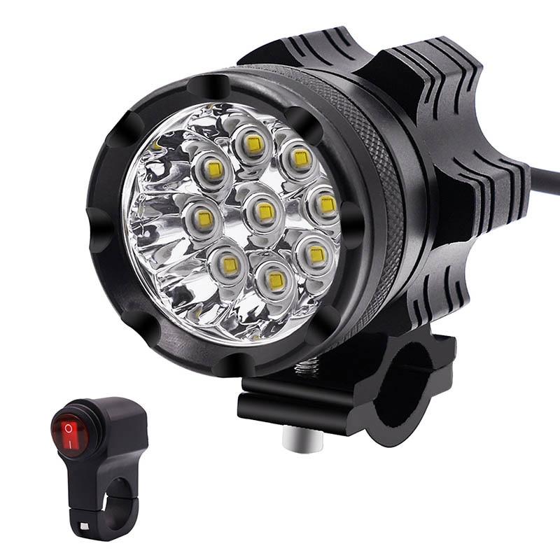 LED moto phare étanche ampoule basse consommation moto phare avec interrupteur voiture style