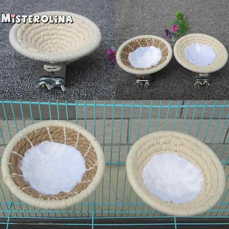 Canary Toy Bed Bird Nest Parrot Hemp Rope Large Cotton Pet Supplies Handmade Budgies