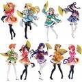 """Frete Grátis 7 """"Love Live! Anime Conjunto Completo de Todos Os 9 Membros do Filme Ver. encaixotado 17 cm Ação PVC Figura Coleção Modelo Boneca de Brinquedo de Presente"""