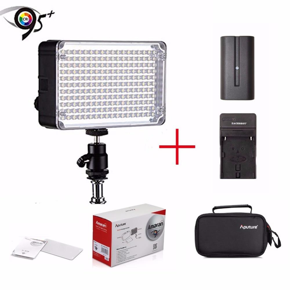Aputure Amaran AL-H198 CRI95+ 5500K Camera LED Video Light for Sony +Hot Shoe Mount Carrying Bag+Battery+Charger for Sony Camera видеорегистратор oem h198