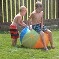 Multicolor Outdoor Children Water Toy Giant Inflatable Beach Ball Sprinkler Inflatable Water Ball Play Fun Environmental PVC|Garden Sofas| |  -