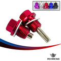 PQY RACING- Magnetic Oil & Tranny Drain Plug Package For honda WITH LOGO PQY- ODP11