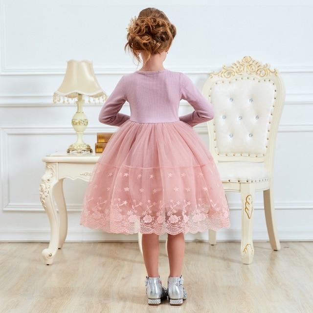Winter Autumn Long Sleeve Children Girl Dresses Casual School Dress for Girls Fancy Dress Kids Girl Party Wear Clothing 3 8T 2