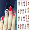 4 sheets Art Nail Mickey Cartoon Mouse DIY Water Transfer Sticker Decal Sticker For Nail art Sticker Watermark Decoration tools