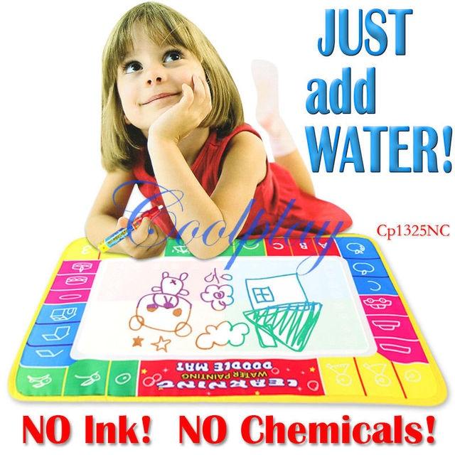 In Stock  5pcs/Lots 72X49cm CP1325nc Big size  Magic Water Doodle Mat with 1 Magic Pen/Water Drawing t Mat