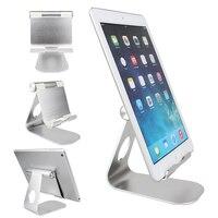 270 כסף תואר לסובב סגסוגת אלומיניום שולחן העבודה Tablet PC & Bracket מחזיק מעמד טלפון נייד עבור iPhone iPad נקסוס Galaxy GPS