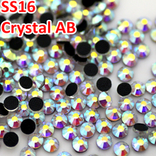 1440pcs SS16 3 8 4 0MM Good quality Crystal AB DMC Flatback Strass Crystal Hotfix Rhinestones
