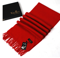 2015 New Solid Color Red Winter Scarf Unisex Men Women Scarves Cashmere Warmer Shawls Fashion Spring Autumn Red Winter Scarf