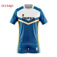 Custom Sublimated Royal Navy Vintage Rugby Shirt Kit