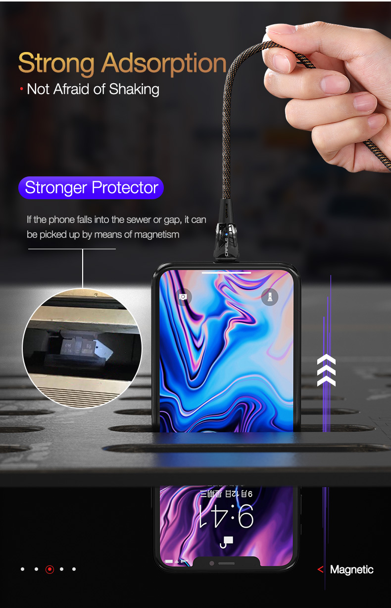 magnetic usb cable for iPhone Huawei Samsung Xiaomi LG  (8)