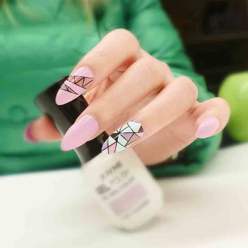3sets European Style Stiletto Flase Nails Cusp Full Cover Long ...