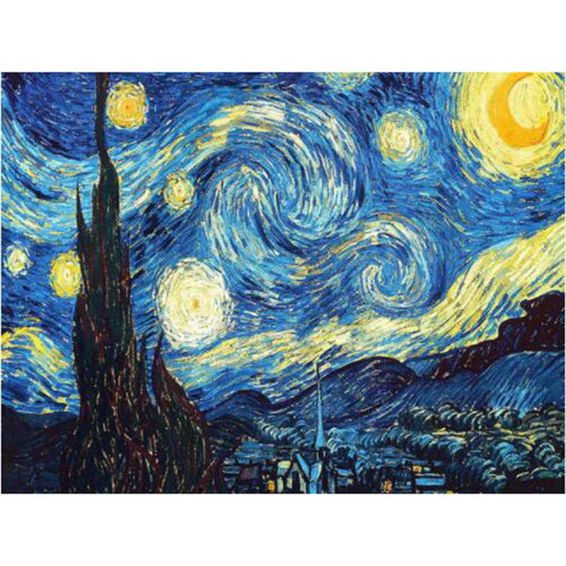 Home Decoration DIY 5D Diamond Embroidery Van Gogh Starry Night Cross Stitch kits Abstract Oil Painting Resin Hobby Craft YY