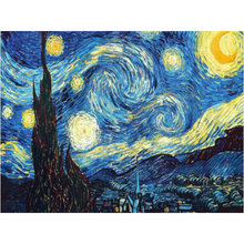 Hause Dekoration DIY 5D Diamant Stickerei Van Gogh Starry Night Kreuz Stich kits Abstrakte Ölgemälde Harz Hobby Handwerk YY(China)