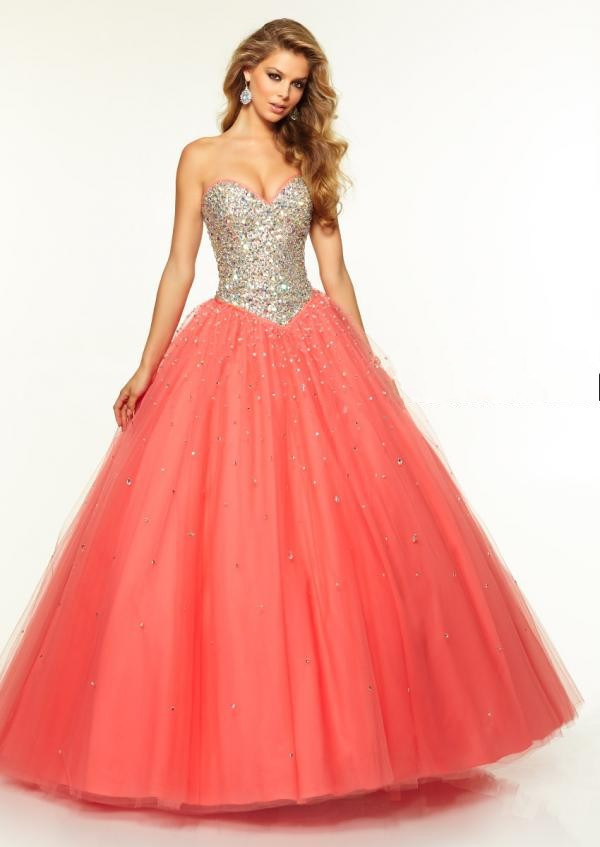ae92a139809 Attractive Long Quinceanera Dresses Gowns For Girl Shinning Crystals ...