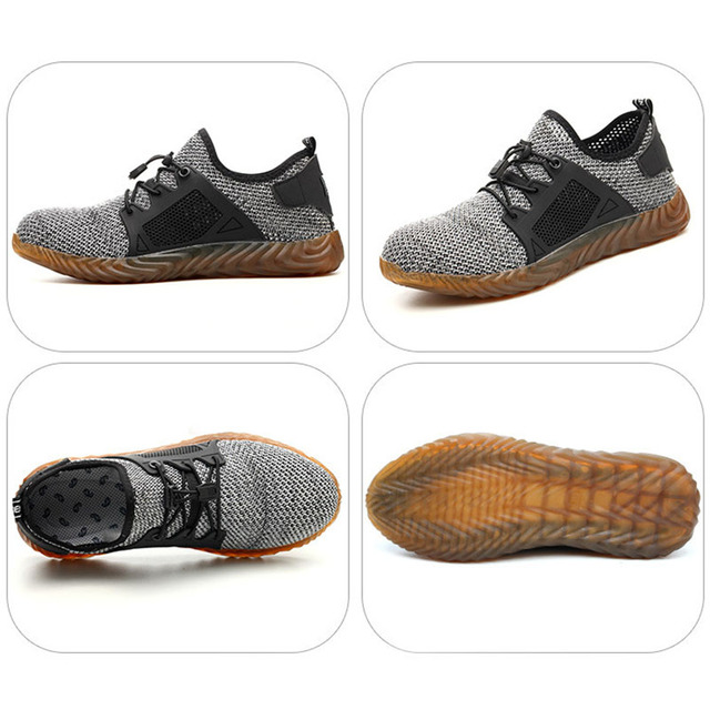 2019 New Breathable Mesh Safety Shoes Men Light Sneaker Indestructible Steel Toe Soft Anti piercing
