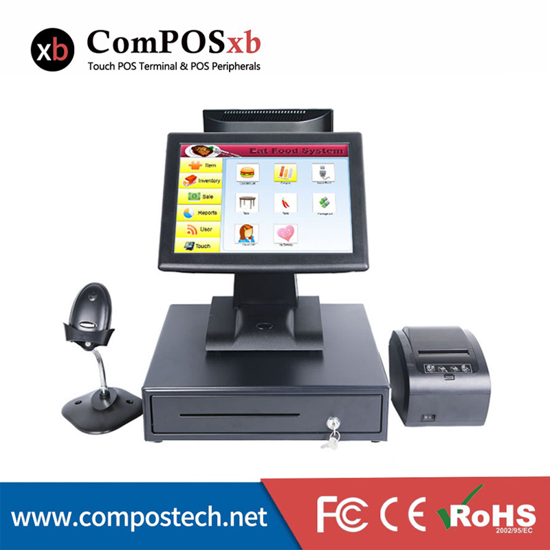 high quality point of sale shop cash register pos all in one cashier machine with cash drawer 80 receipt printer barcode scanner pos all in one nice quality hot sales 12 inch touch cash register pos machine 58mm receipt printer cash drawer barcode scanner