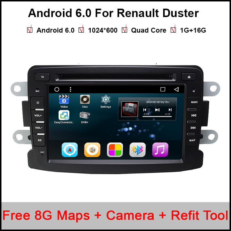 1024*600 HD Quad Core 7 Inch Glonass/GPS Android Car DVD For Renault Duster Bluetooth/TV/GPS/Waze/Mirror-Link Car Radio Player