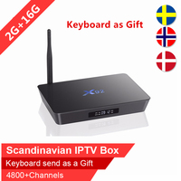 Swedish IPTV X92 16GB Rom android tv box Arabic Scandinavian IPTV Spain Nordic Israel iptv IP TV subscription VOD smart tv box