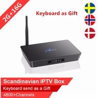 Swedish IPTV X92 16GB Rom android tv box Arabic Scandinavian IPTV Spain Nordic Israel iptv IP TV subscription VOD smart tv box
