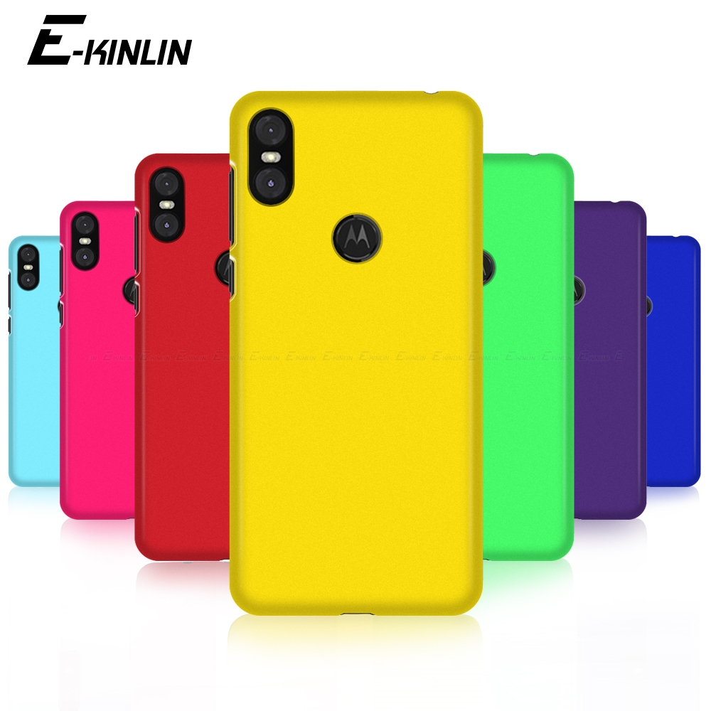 Luxury Hard PC Matte Phone Case Ultra Thin Slim Plastic Back Cover For Motorola Moto One vision Power P50 P30 note Play