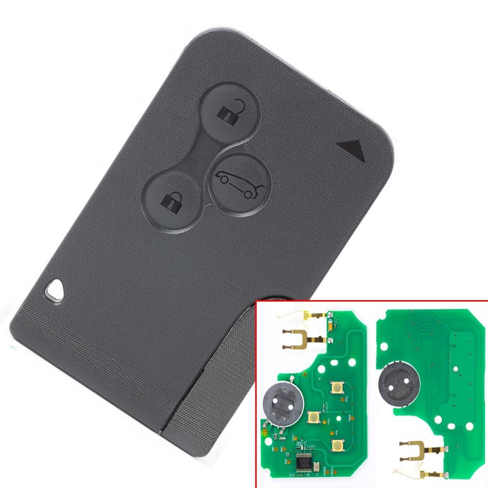 Livrare gratuită (10 bucăți / Lot) 3 Buton Card de la distanță cu pcf7947 Chip Pentru Renault Megane CLIO & SCENIC REMOTE KEY CARD