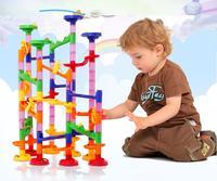 Ewellsold 105pcs Brand DIY Marble Race Run Maze Balls Track Building Blocks Kids Educational Construction Game