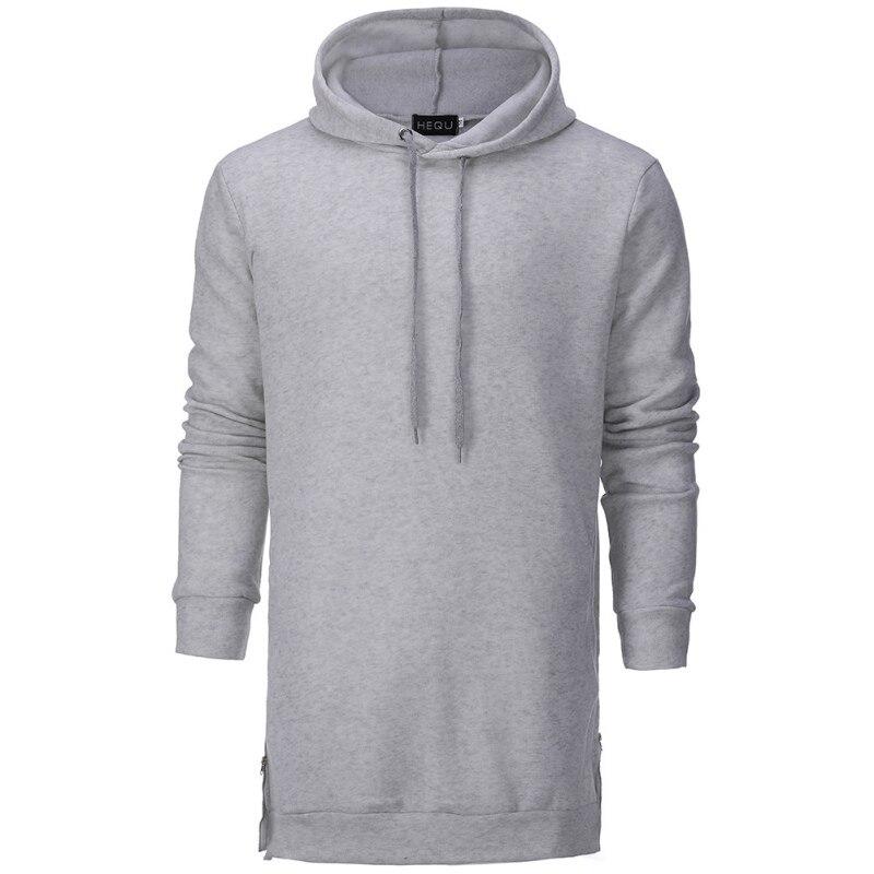 New Design Hoodie Men Fashion Long Sleeve Sweatshirts Brand Casual Solid Color Pullover Spring Autumn Hip Hop Long Sweatshirt