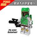 Sola Venta Verde Starwars Star Wars Cazarrecompensas Boba Fett Cloud Ciudad de Bloques de Construcción de juguetes para Los Niños
