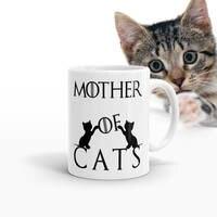 Mère De Chats Tasse café tasses de bière en céramique tasses à thé maison sticker chat amant nouveauté chat dame tasses game of thrones tasses