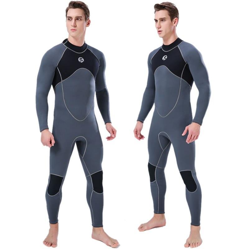 SLINX hommes corps complet 3mm néoprène combinaison dos Zip plongée sous-marine combinaison de natation pour Triathlon surf plongée en apnée chasse sous-marine