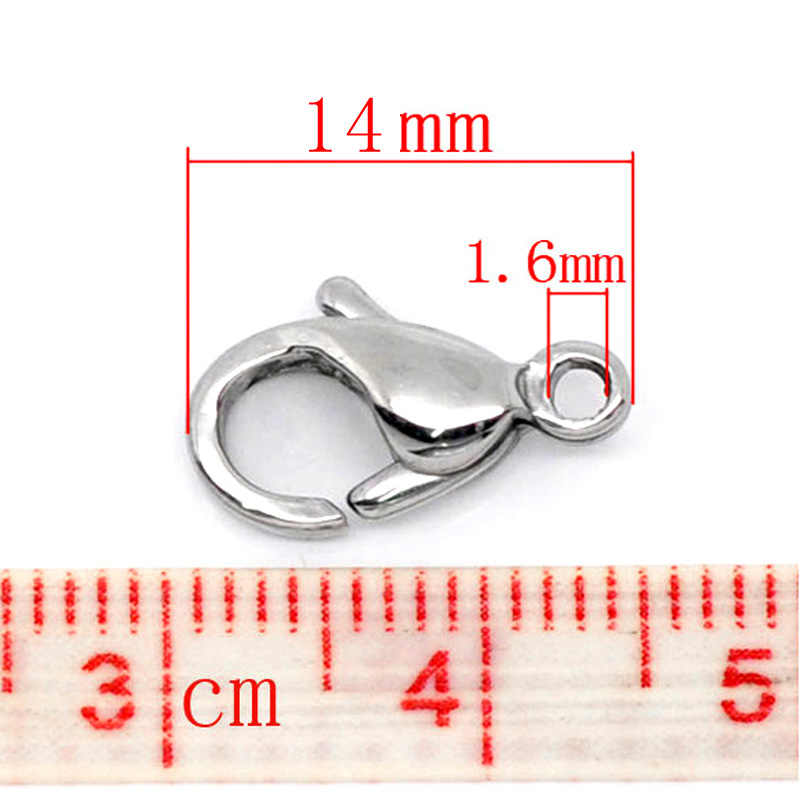 20Pcs Stainless steel Lobster Clasps  Jewelry Marking End Clasps Connectors For Necklaces Bracelets DIY Findings Accessories