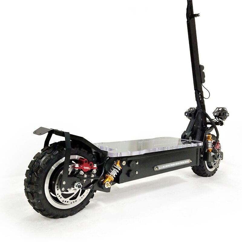 Scooter électrique puissant de 3200 W outre du Scooter électrique adulte de Longboard de planche à roulettes de route Scooter professionnel pliable électrique - 3
