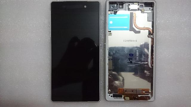 Display lcd original para sony xperia z2 d6503 d6502 l50w quadro de tela de toque digitador assembléia frete grátis