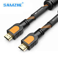 SAMZHE Braid HDMI Cable HDMI to HDMI 2.0 4K*2K Double magnetic ring shielded for PS4 xbox Projector LCD Apple TV 1m 2m 3m 5m 8m