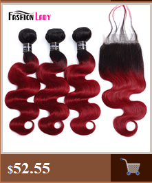 HTB1AbQcc.GF3KVjSZFoq6zmpFXan Fashion Lady Pre-Colored Ombre Brazilian Hair 3 Bundles With Lace Closure 1B/ 99J Straight Weave Human Hair Bundle Pack Non-Remy