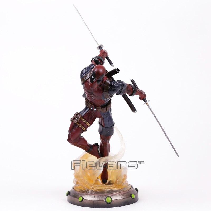 Алмаз выберите Игрушечные лошадки Marvel галерея Дэдпул статуя ПВХ Рисунок Коллекционная модель игрушки 35 см
