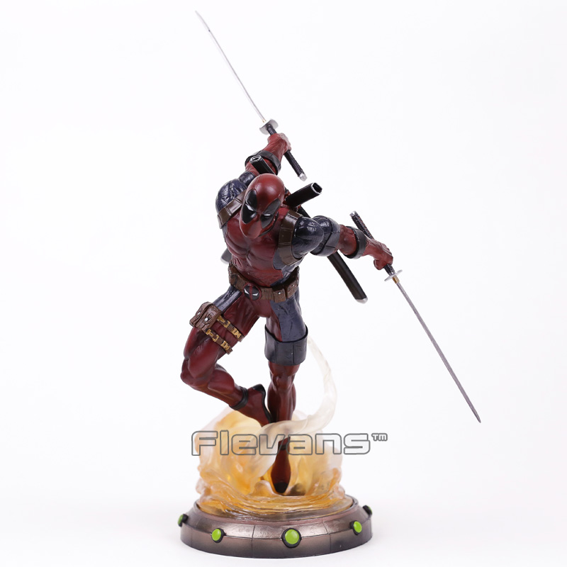 Diamond Select Toys Marvel Gallery Deadpool Statue PVC Figure Collectible Model Toy 35cm neca epic marvel deadpool ultimate collectible 1 4 scale action figure model toy 16 45cm ems free shipping
