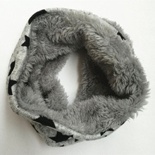 New autumn Winter Children infinity scarf five stars Baby scarf Boys and girls coton Kids Dot print ring children loop Scarves