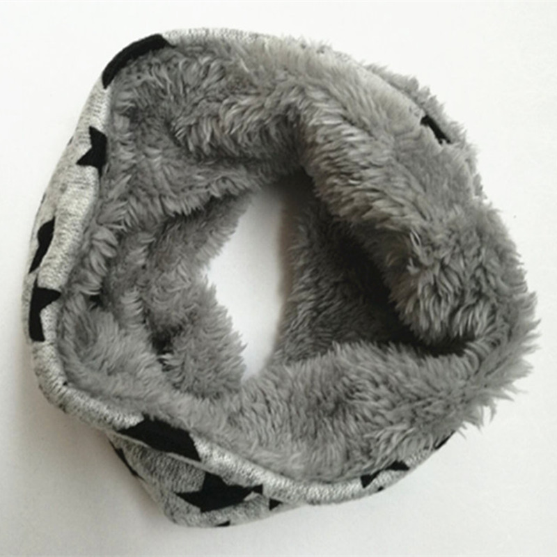 New Winter Scarf Infinity Baby Scarfs Five Star Boys Girls Cotton Kids Scarf Children Scarf Soft Ring Warm Scarves Dust Masks