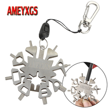 1pc 21-In-1 Archery Multifunction Wrench Snowflake Arrow Adjustment Tool Hex For Shooting Hunting Accessories