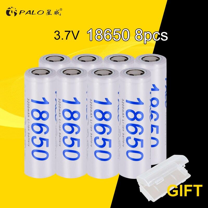 PALO 8 pcs/lot 100% D'origine 18650 NCR18650B 3200 mah Li-ion Rechargeable batterie Pour Panasonic lampe de Poche piles