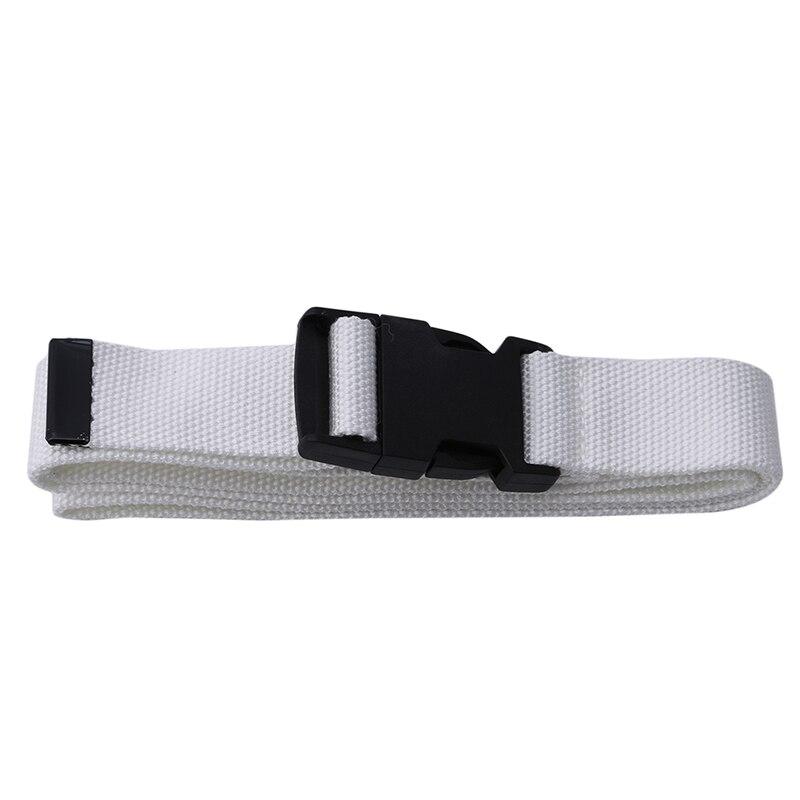 116 см Регулируемый универсальный ремень для девочек и мальчиков унисекс корейский стиль холщовые ремни Harajuku Пряжка сплошной цвет длинный ремень cinturon mujer - Цвет: white