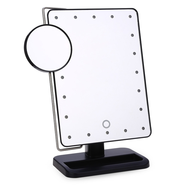Adjustable 20 leds lighted makeup mirror touch screen portable adjustable 20 leds lighted makeup mirror touch screen portable magnifying vanity tabletop lamp cosmetic mirror make aloadofball Images
