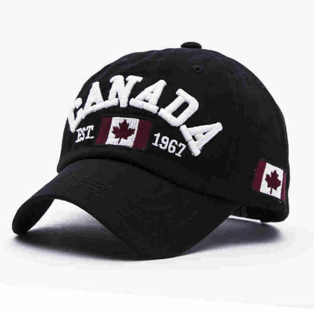 9a14f9ae296 TUNICA 2018 new brand canada letter embroidery Baseball Caps Snapback hat  for Men women Leisure Hat cap wholesale