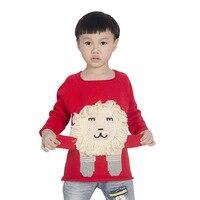 Kids Knitted Sweater Spring Autumn Boys Girls Children Lion Cartoon Sweater Fashion Personality Cute 100% Cotton Sweater Z31
