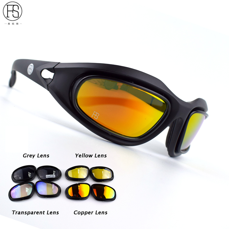 C5 Goggles 4LS Men Military Polarized Sunglasses Bullet-proof Airsoft Shooting Gafas Smoke Lens Goggles