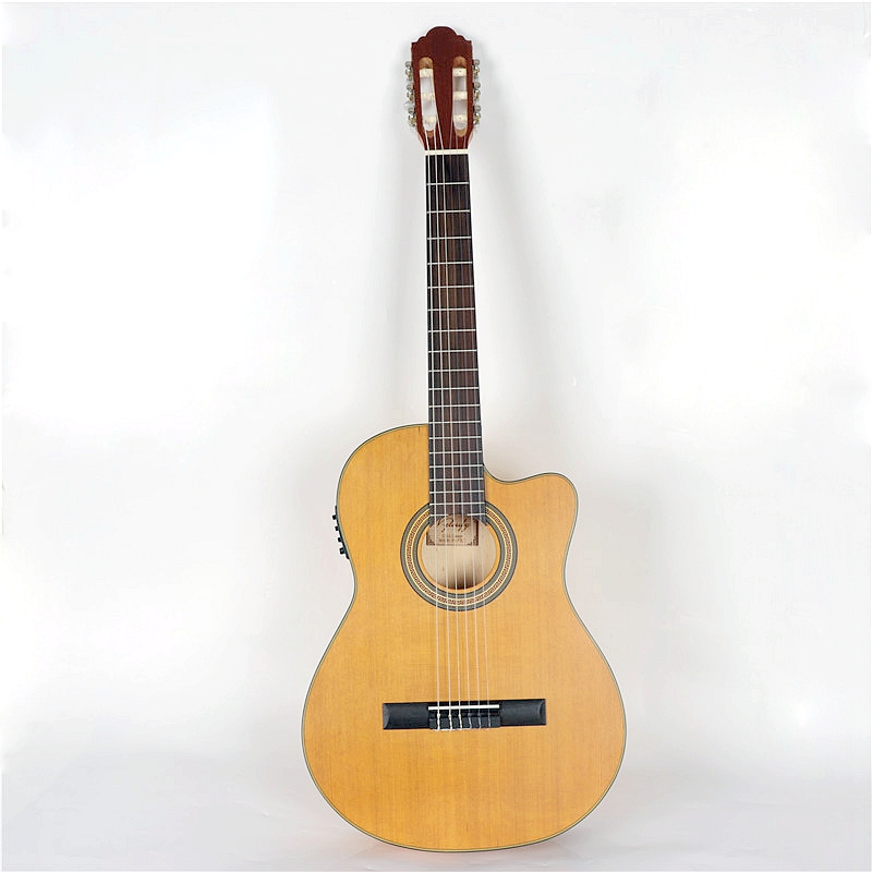 good quality cutway electric classic guitar with free bag with tuner eq in guitar from sports. Black Bedroom Furniture Sets. Home Design Ideas