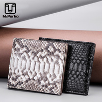 McParko Snakeskin Wallet Women Genuine Leather Ladies Wallet Luxury Brand Small Thin Wallet Python Leather Purse Girlfriend Gift