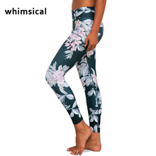 Whimsical Women Printed Sport Leggings Elastic Fitness Yoga Pants Leggins Gym Clothing Running Tights Sportswear Female Trousers